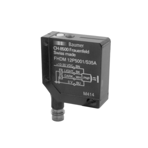 FHDM 12P5001/S35A - Diffuse sensors with background suppression - miniature